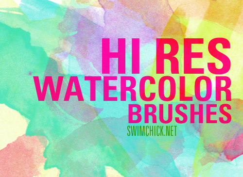 40 Hi-Res Watercolor Free Photoshop Brushes