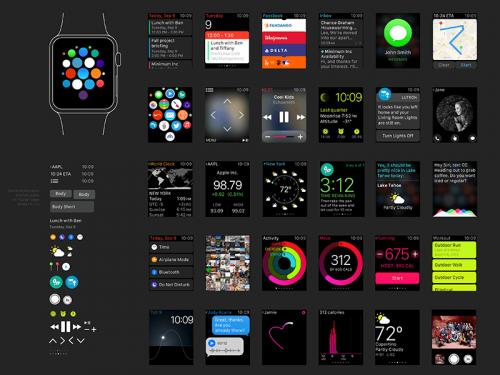 Apple Watch UI Kit Sketch Resource