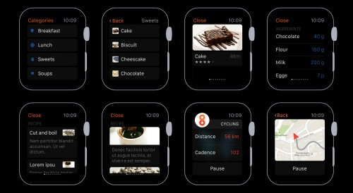 Stylish Apple Watch UI Kit for Designers