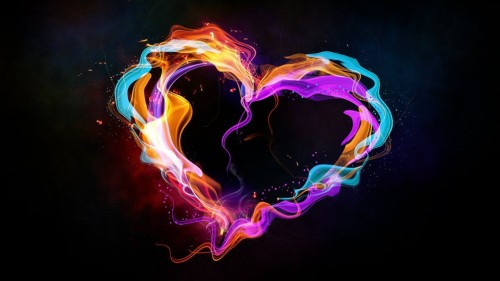 Create An Abstract Style Colorful Heart