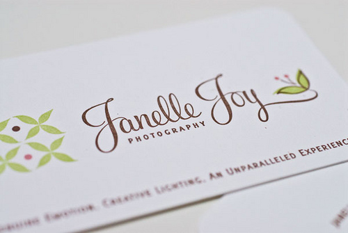 10_Janelle Joy Photography Business Cards