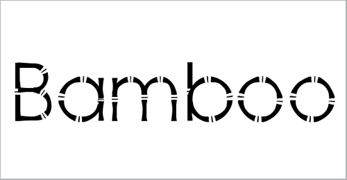 Bamboo Gothic Font