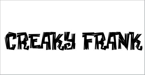 Creaky Frank Font
