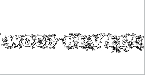 Dark Wood Beveled Font