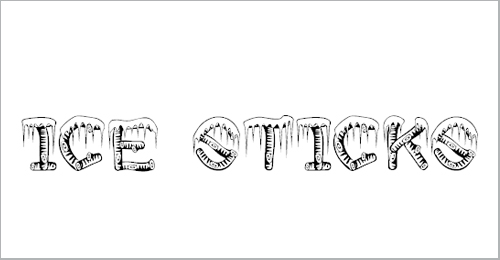 Ice Sticks Font