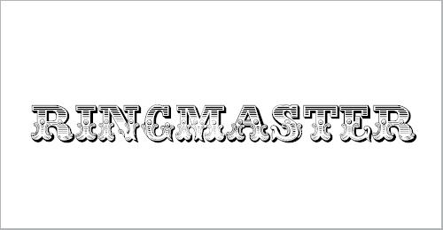 Ringmaster Font
