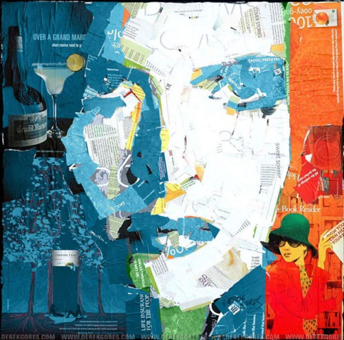 1_Recycled Collage Art of Derek Gores