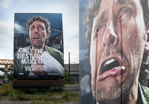 6_Calgary International Film Festival - Crying billboard