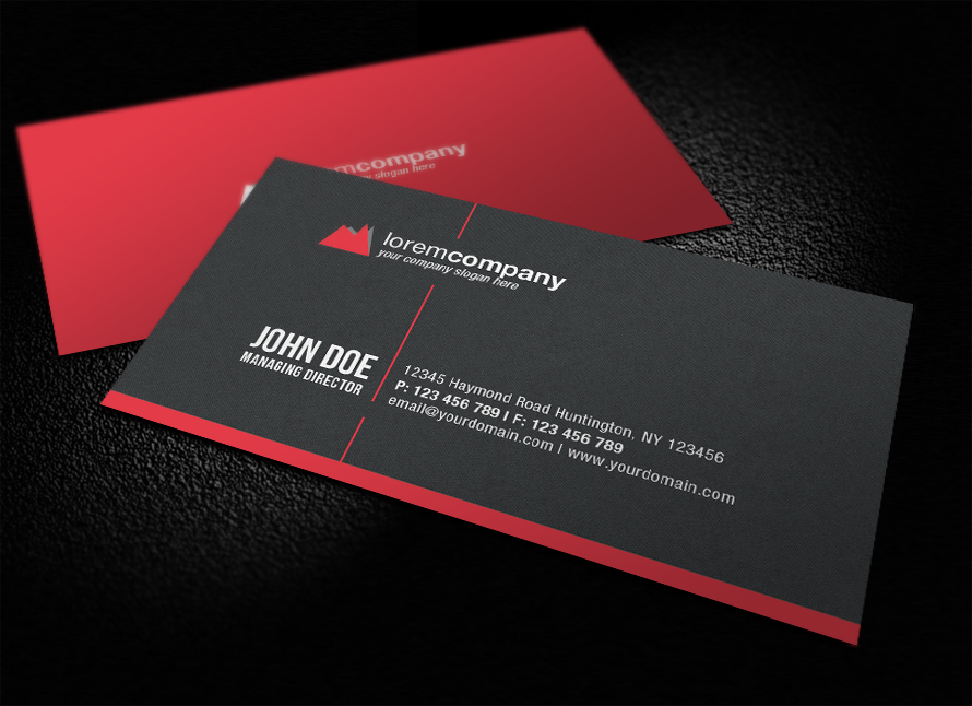 22 Stunning Black Business Cards For Your Inspiration - PixelPetal