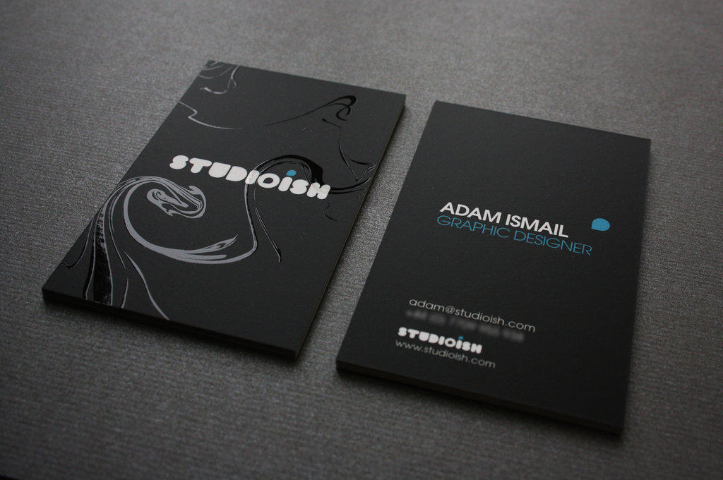 22 stunning black business cards for your inspiration pixelpetal studioish business cards colourmoves