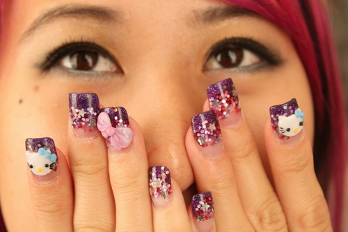 Awesome Hello Kitty Nail Art