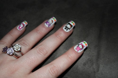 Beautiful Hello Kitty Nails Art