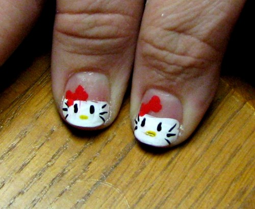 Hello Kitty Art for Short Nails