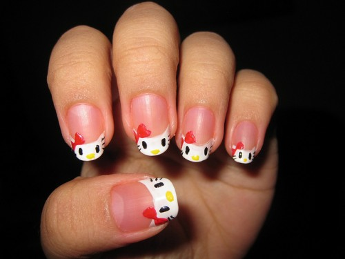 Hello Kitty Nail Art Fashion