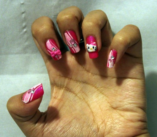 Hello Kitty Nail Design Ideas