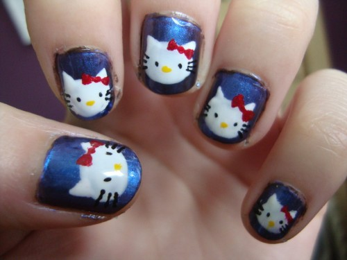 Hello Kitty Toe Nail Art Designs To Bend Light