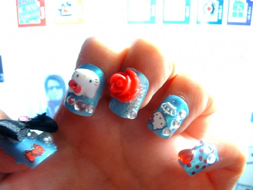 Hello Kitty Nails Picture