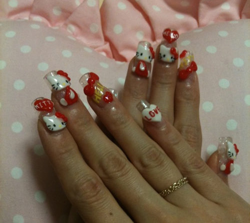 Hello Kitty Nails for Girls