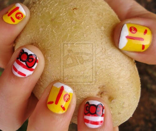 Ronald Mc Donald X Hello Kitty Nail Art