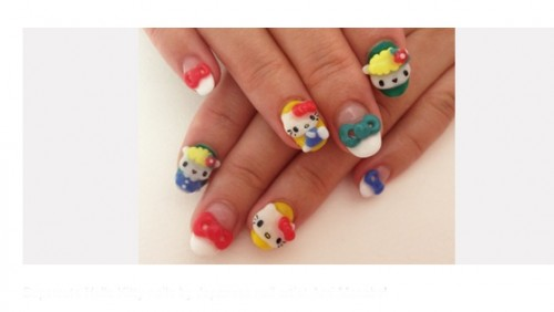 Supercute Hello Kitty Nails