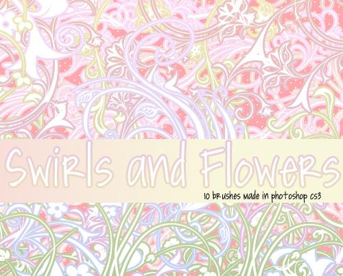 10 Swirls and Flowers Brushes