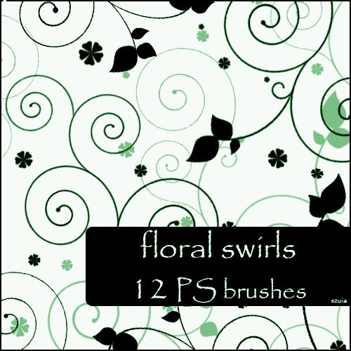 12 Amazing Floral Swirls Brushes