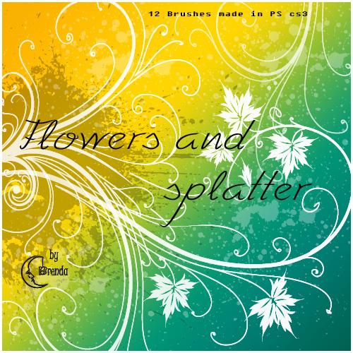 12 Splatter and Swirls Brushes