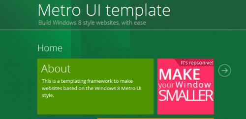 Metro UI Template