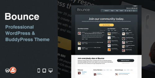 Bounce: Professional BuddyPress Theme