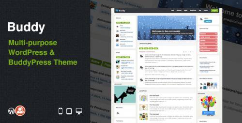 Buddy - WordPress & BuddyPress Theme