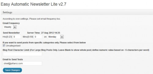 Easy Automatic Newsletter Lite