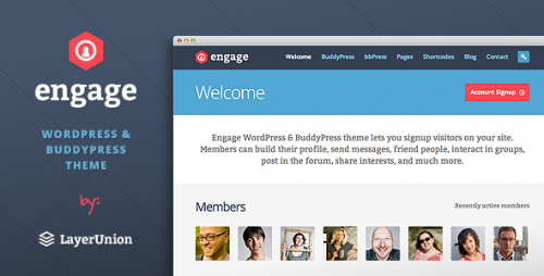 Engage - BuddyPress, bbPress Theme