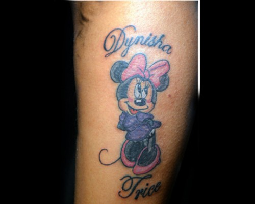 Best Minnie Mouse Tattoo Designs