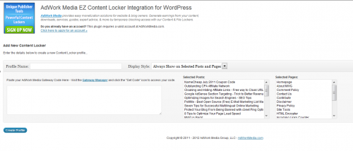 AdWork Media EZ Content Locker