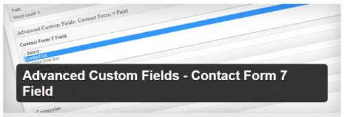 Advanced Custom Fields - Contact Form 7 Field