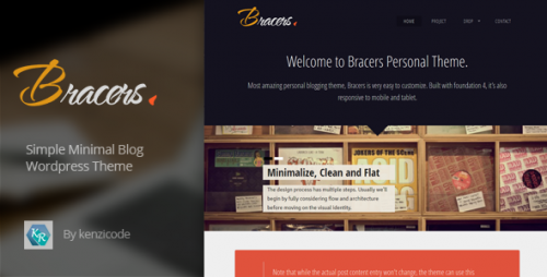 Bracers Personal - Minimal Blog WordPress Theme