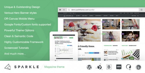 Sparkle - Outstanding Magazine Theme for WordPress