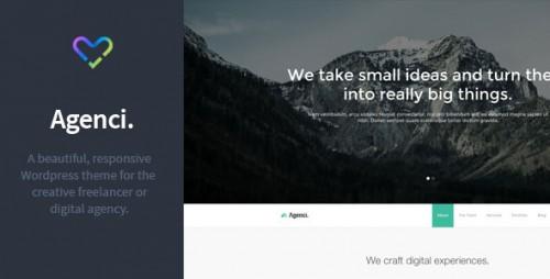 Agenci - One Page Responsive WordPress Theme