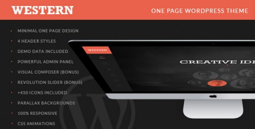 Western - Minimal One Page WordPress Theme