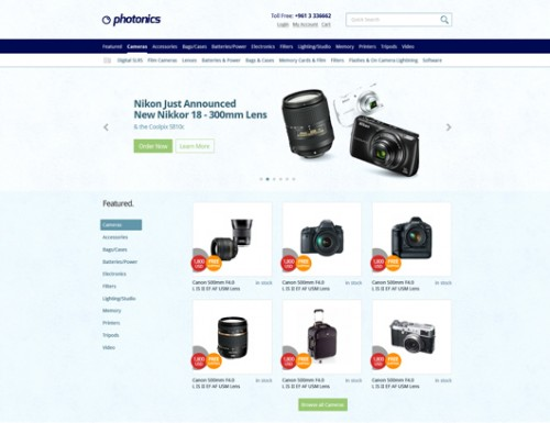 Camera Store Website Template