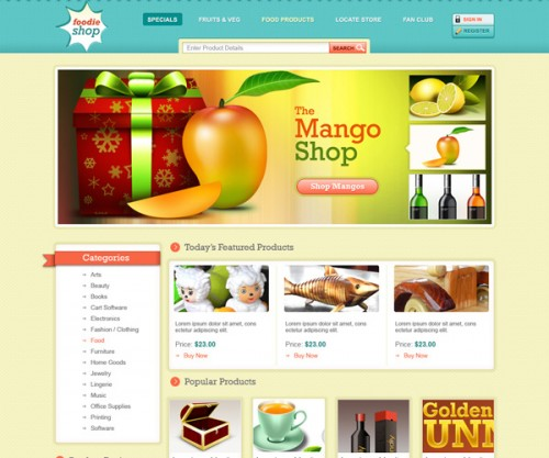 Ecommerce Website Template Design