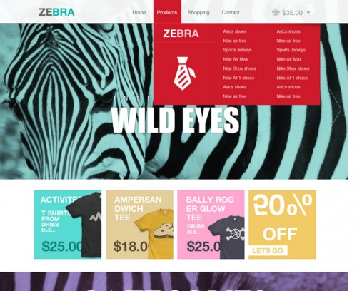 Zebra – Ecommerce Website Template