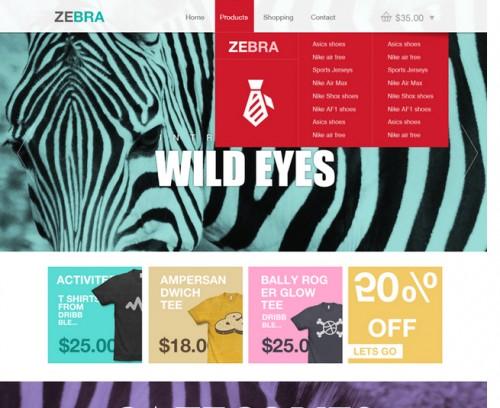 Zebra – Ecommerce Website Template