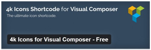 4k Icons for Visual Composer