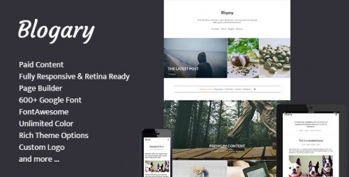 Blogary Centent Blog Magazine WordPress Theme