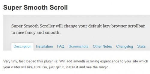 Super Smooth Scroll