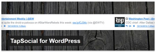 TapSocial for WordPress