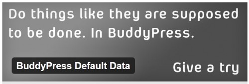 BuddyPress Default Data