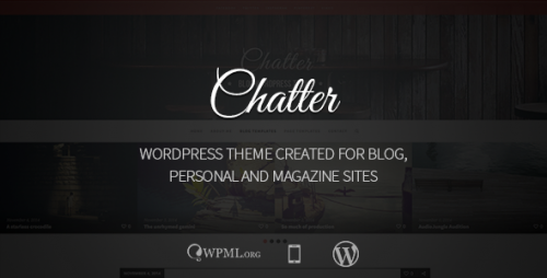 Chatter - Responsive WordPress Blog Theme