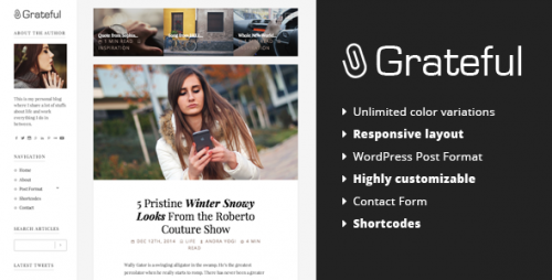 Grateful - Personal Blog WordPress Theme